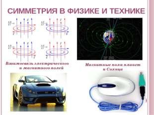 СИММЕТРИЯ В ФИЗИКЕ И ТЕХНИКЕ Взаимосвязь электрического и магнитного полей Ма