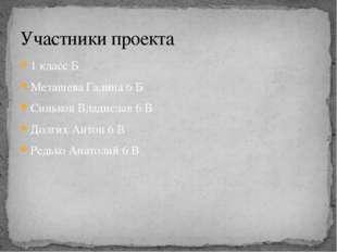 1 класс Б Меташева Галина 6 Б Синьков Владислав 6 В Долгих Антон 6 В Редько А