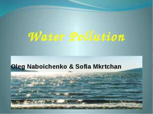 Oleg Naboichenko & Sofia Mkrtchan Water Pollution