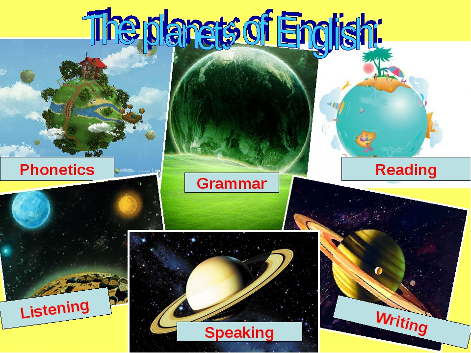 Phonetics Reading Grammar Listening Writing Speaking
