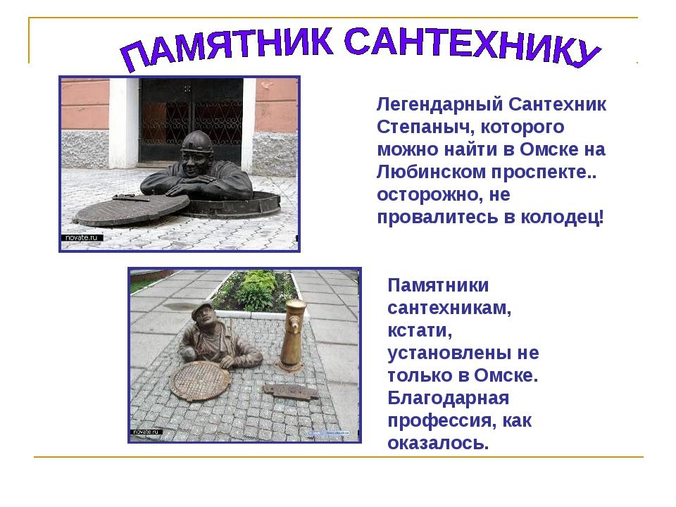 Легендарный Сантехник Степаныч, которого можно найти в Омске на Любинском про...