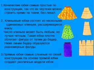 1.Конические юбки самые простые по конструкции, так что их чертежи можно стро
