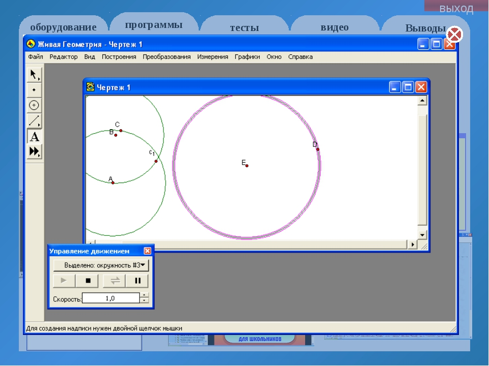 оборудование программы Выводы тесты видео выход