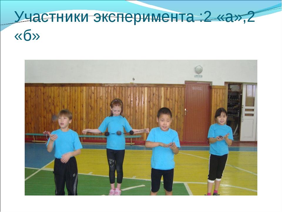 Участники эксперимента :2 «а»,2 «б»