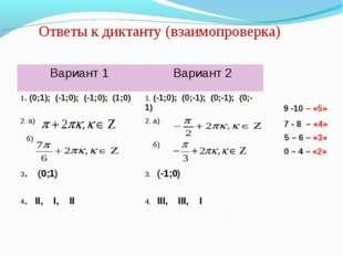 Ответы к диктанту (взаимопроверка) 9 -10 – «5» 7 - 8 – «4» 5 – 6 – «3» 0 – 4