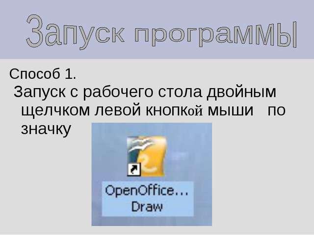 Способ 1. Запуск с рабочего стола двойным щелчком левой кнопкой мыши по значку