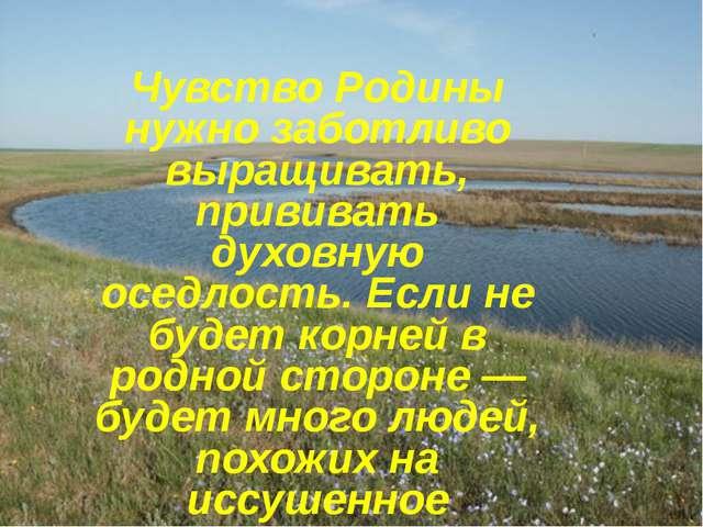 Чувство Родины нужно Чувство Родины нужно заботливо выращивать, прививать дух...