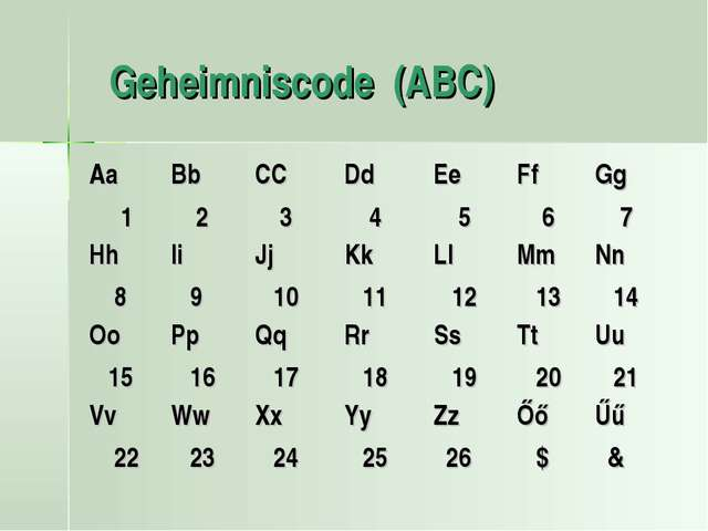 Geheimniscode (ABC)