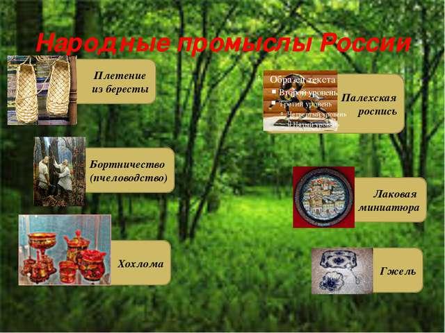 Народные промыслы России Палехская роспись Плетение из бересты Лаковая миниат...