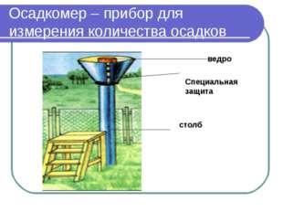 Осадкомер – прибор для измерения количества осадков ведро Специальная защита