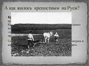 А как жилось крепостным на Руси? Крепостно́е пра́во— это полная и суровая кр