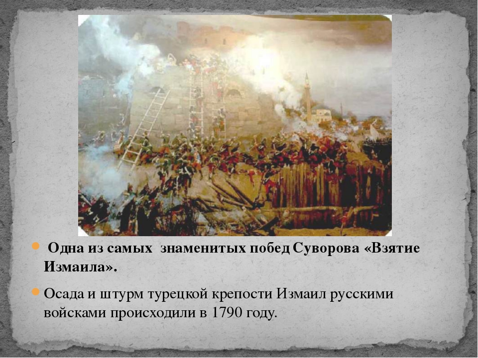 Одна из самых знаменитых побед Суворова «Взятие Измаила». Осада и штурм туре...