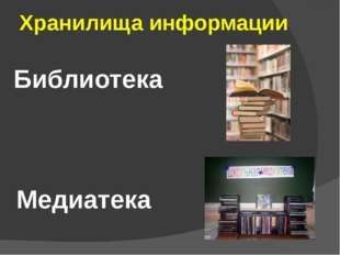 Хранилища информации Библиотека Медиатека