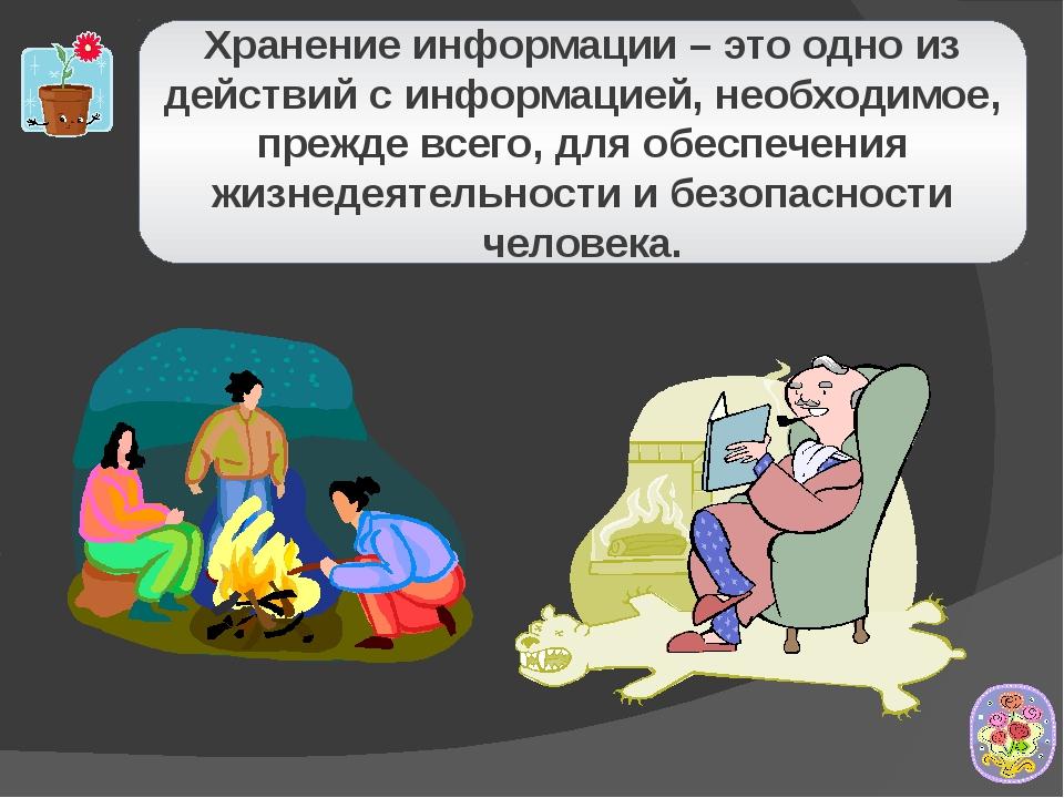 Хранение информации – это одно из действий с информацией, необходимое, прежде...