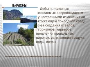 Охрана природной среды при разработке полезных ископаемых. Добыча полезных ис