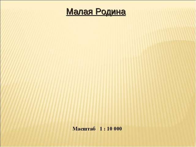 Малая Родина Масштаб 1 : 10 000