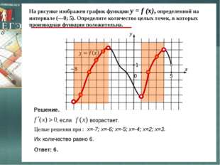 На рисунке изображен график функции y = f (x), определенной на интервале (—8;
