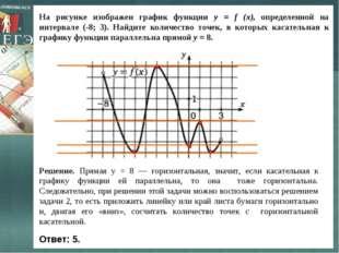 На рисунке изображен график функции y = f (x), определенной на интервале (-8;