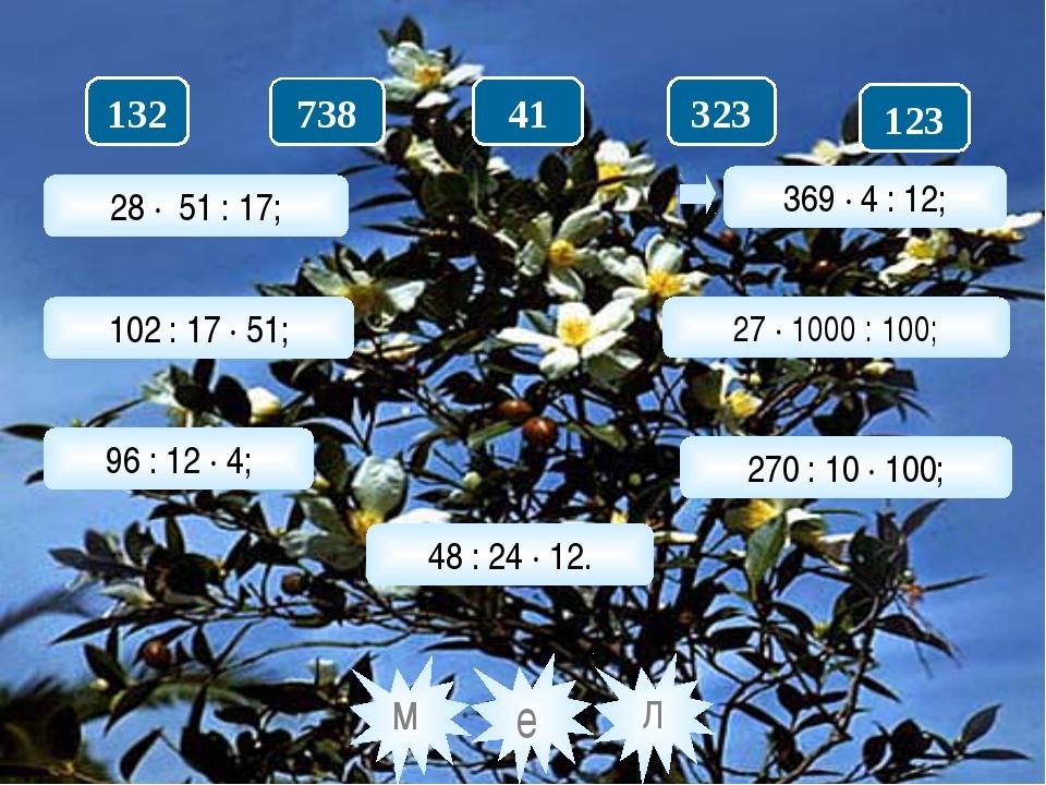 28 · 51 : 17; 102 : 17 · 51; 96 : 12 · 4; 48 : 24 · 12. 369 · 4 : 12; 27 · 10...