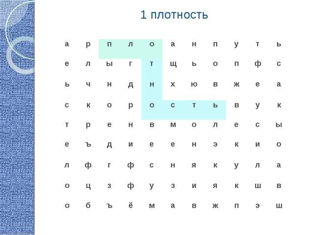1 плотность арплоанпуть елыгтщьопфс ьчнднхювжеа...