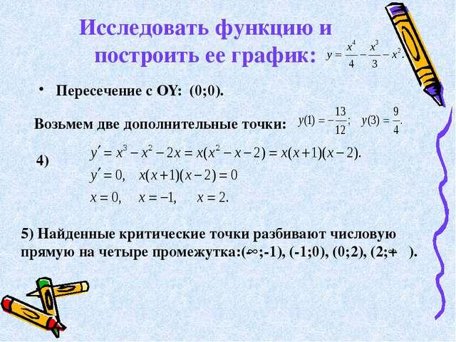 Исследовать функцию и построить ее график: Пересечение с OY: (0;0). Возьмем д...