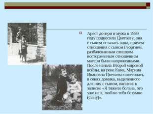 Арест дочери и мужа в 1939 году подкосили Цветаеву, она с сыном осталась одна