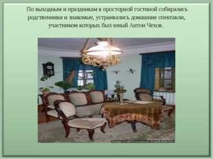 По выходным и праздникам в просторной гостиной собирались родственники и зна