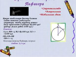 Применение теоремы Пифагора Какую наибольшую высоту должна иметь антенна моб