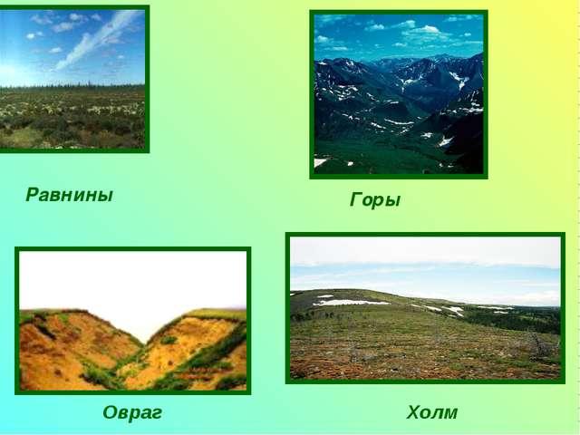 Равнины Горы Холм Овраг
