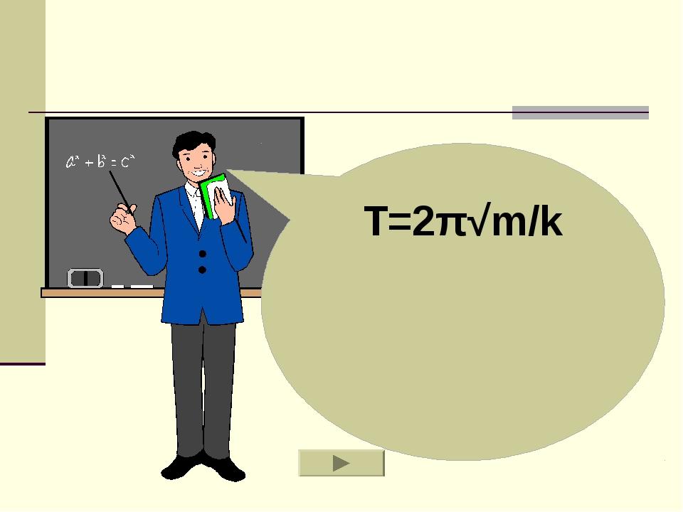 T=2π√m/k