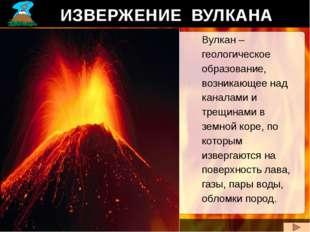 ИЗВЕРЖЕНИЕ ВУЛКАНА Вулкан – геологическое образование, возникающее над канала