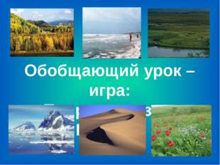 Обобщающий урок – игра: «Природные зоны России»