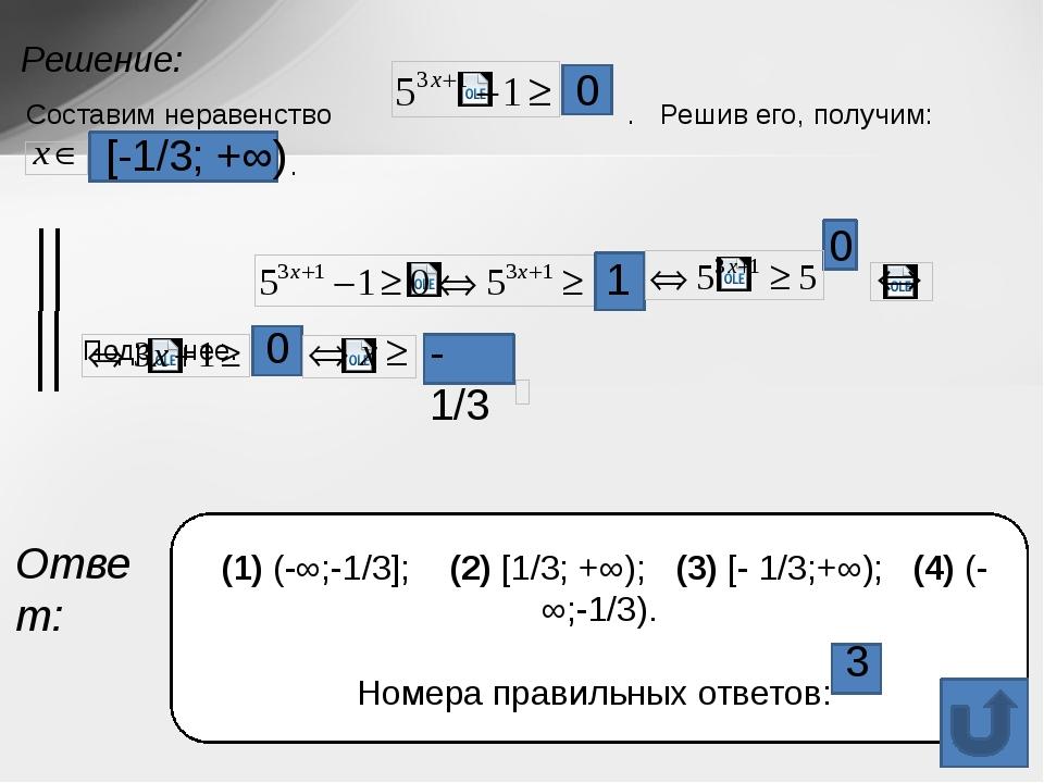 Задание с использованием показательных функций, показательных уравнений и нер...