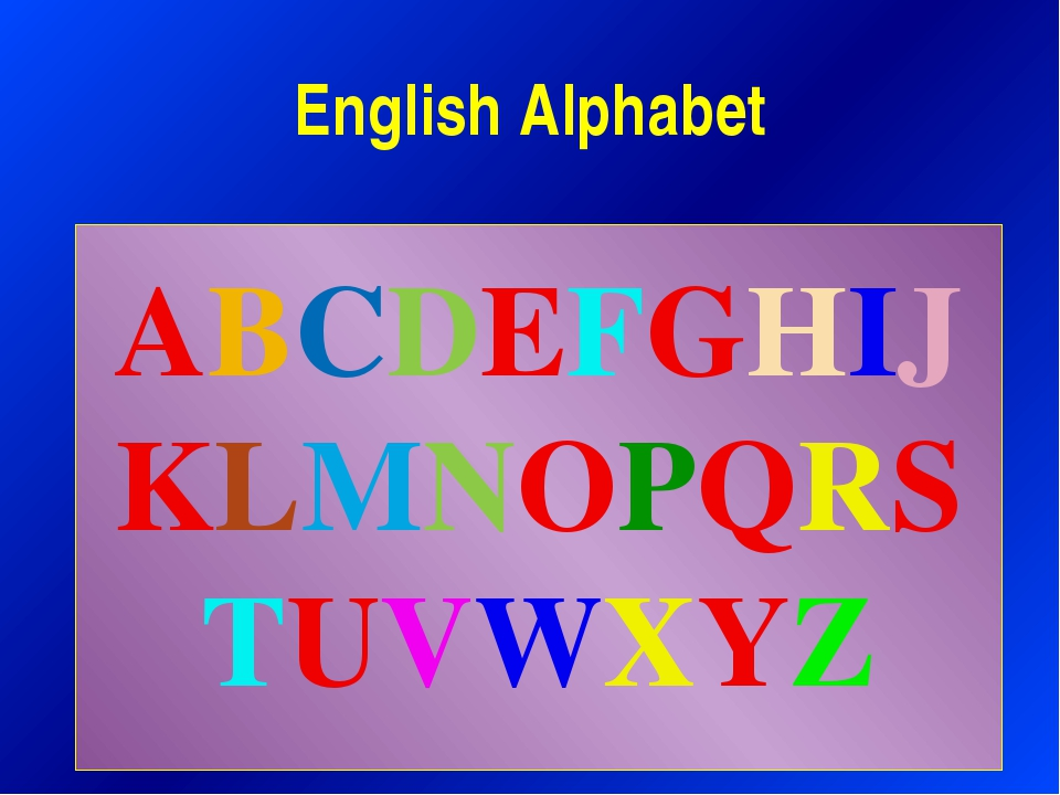 English Alphabet ABCDEFGHIJKLMNOPQRSTUVWXYZ