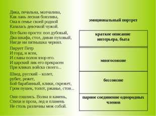 парное соединение однородных членов бессоюзие краткое описание интерьера, быт