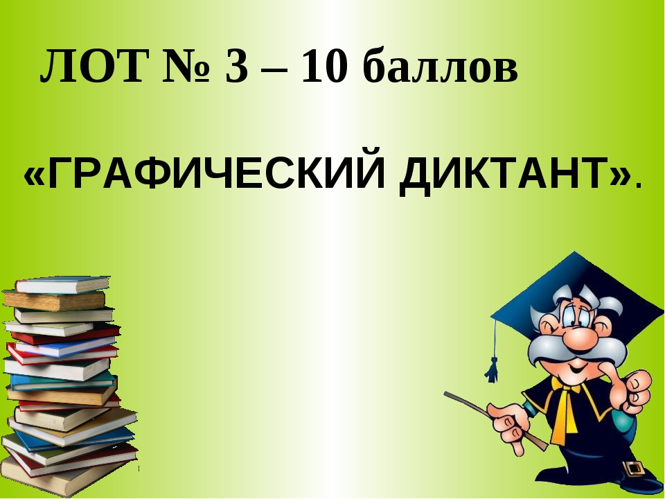 ЛОТ № 3 – 10 баллов «ГРАФИЧЕСКИЙ ДИКТАНТ».