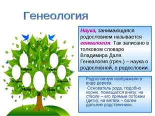 Родословную изображали в виде дерева. Основатель рода, подобно корню, помеща
