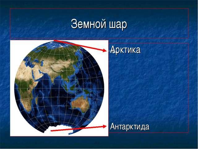 Земной шар АА Арктика Антарктида