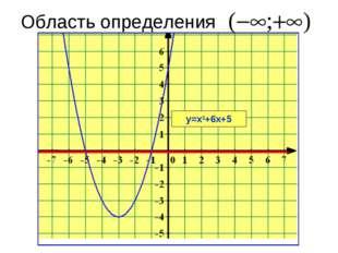 Область определения у=х2+6х+5