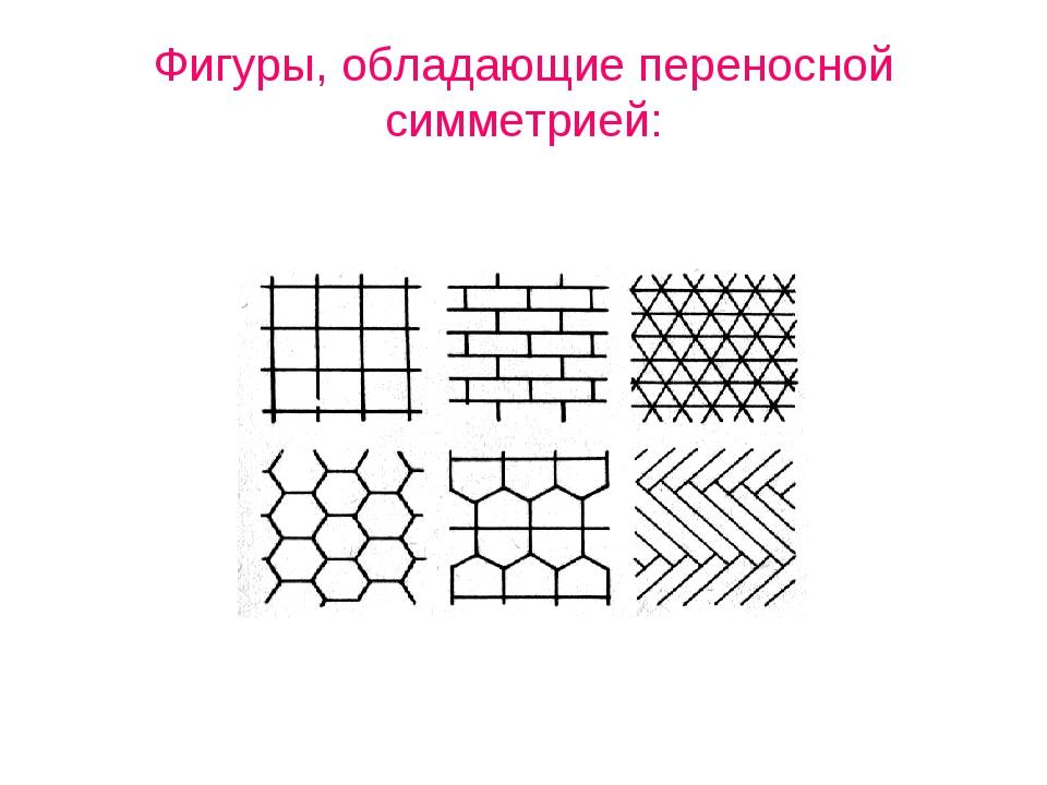 Фигуры, обладающие переносной симметрией: