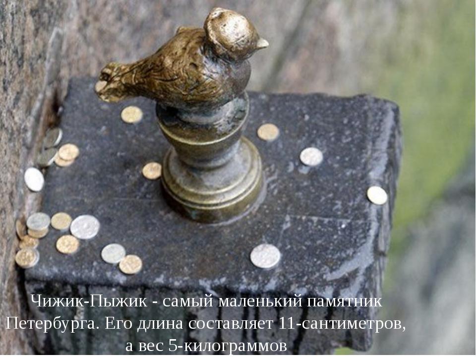 Чижик-Пыжик - самый маленький памятник Петербурга. Его длина составляет 11-са...