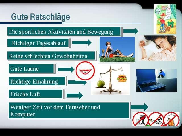 Die sportlichen Aktivitäten und Bewegung Richtiger Tagesablauf Keine schlech...