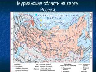 Мурманская область на карте России.