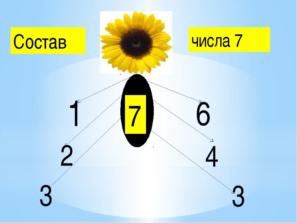 Состав числа 7 7777 7 1 6 2 4 3 3