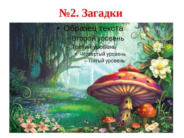 №2. Загадки