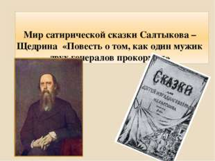 Мир сатирической сказки Салтыкова – Щедрина «Повесть о том, как один мужик дв