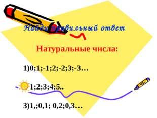 На ноль можно делить: 1) любое число; 2) только натуральные числа; 3) никако