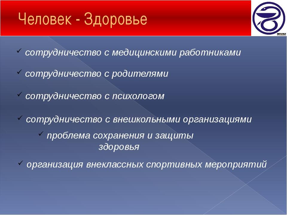 Человек - Здоровье сотрудничество с медицинскими работниками сотрудничество с...