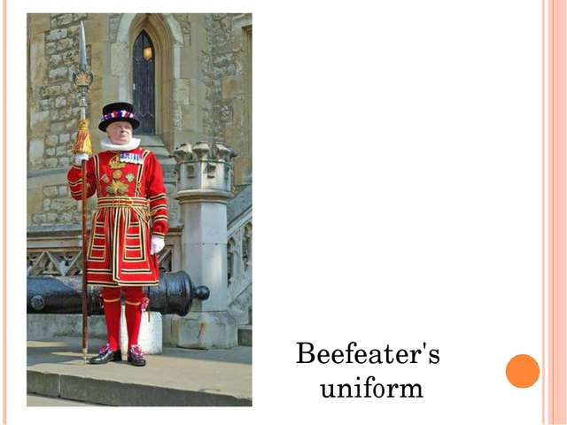 Beefeater's uniform