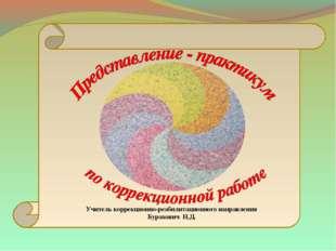 Учитель коррекционно-реабилитационного направления Бурахович Н.Д.